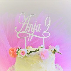Name & Age cake topper - Custom made - Assorted materials