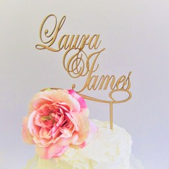 Custom Names cake topper - Assorted materials