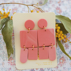 Statement Drop Earring 'Sunset Blush' Collection