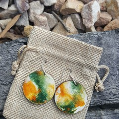 One of a kind artistic earrings