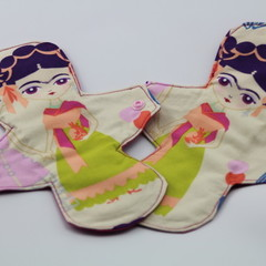 "Esperanza Yellow  9"" Regular Washable Reusable Cloth Menstrual Pad"