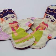"Esperanza Yellow  9"" Regular Washable Reusable Cloth Menstrual Pad"