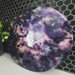 Midnight Galaxy Sky Circle Wall Art