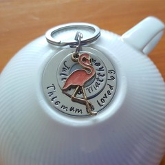 This Mum Is Loved By,Mothers Day Gift, Keyring, Name, Personalised,Kids Names