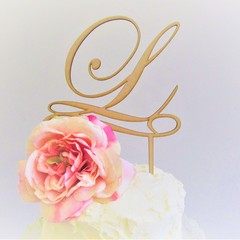 Monogram cake topper - Custom made - Assorted materials