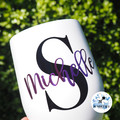 Personalised Teacher Swig Tumbler. Teach Love Inspire. Coffee Tea Wine Gift.