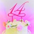 Number cake topper - Custom made - Assorted materials