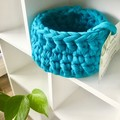 CLEARANCE***Crochet Basket -Small Teal