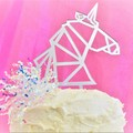 Unicorn cake topper - Assorted materials