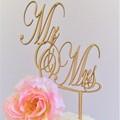 Mr & Mrs cake topper - Assorted materials