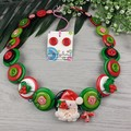 Santa Claus - Christmas - Necklace Buttons and Polymer - Jewellery - Earrings