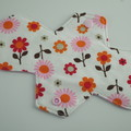 "Super Soft Pink/Floral T-Shirt Fabric Reusable Cloth Menstrual Pad 9"" Regular"