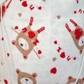 Large Drawstring Bag - 'I Love You' Bears and Roses Design