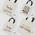 Teacher definition Best Teacher Shopping Bag Canvas tote Gift Bag Personalised