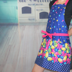 Blue Butterfly Handmade Kitchen Apron - Made in Australia