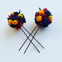 Custom Hair Pins (2) - Bridal/Race/Formal Wear