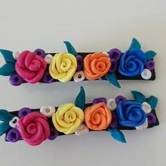 Floral Hair clips (2) - Bridal/Race/Formal Wear