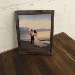 Photo On Timber, Recycled Timber Photo Frame, Wedding Photo, Special Occasion,