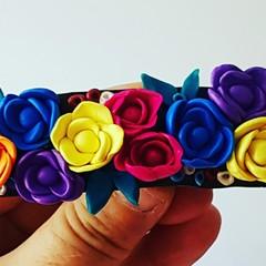Floral Hair barrette Bridal/Formal/races