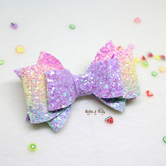 Fuschia Rainbow Hair Bow