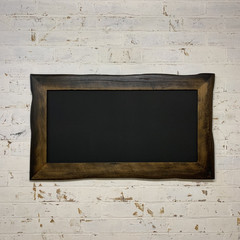 Charred Driftwood Framed Chalkboard, Restaurant Menu Black Board
