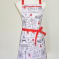 Paris Red Dress Women's Apron FREE Tracked Post !
