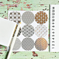 Sparkly Gold Foil Seals {18} Japanese Prints Gold Stickers | Christmas Gift Wrap