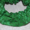 Handmade Green Scrunchie