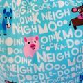 Large Drawstring Bag - Animal Noises Design
