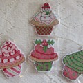 Xmas Cupcake Decorations - Set of 4