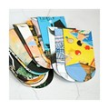 Luxe Art Book Envelopes {10w cards + seals} Coin Size Reclaimed Paper Envelopes