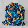 Large Drawstring Bag -  Dinosaurs Galore