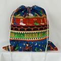 Large Drawstring Bag - Cowboy Round Up Design
