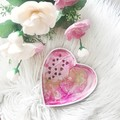 PINK HEART | Jewellery Dish | Trinket Dish | Accessories Dish | Ring Holder |