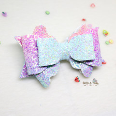 Pastel Blue Purple Hair Bow