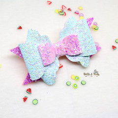 Pink Light Blue Hair Bow