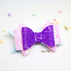 Purple Pink Hair Bow