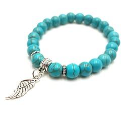 Angel wing charm bracelet