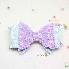 Purple Light Blue Hair Bow