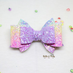 Purple Pastel Hair Bow