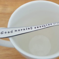 Good morning Sunshine. Coffee Spoon, mother's day, gift for child
