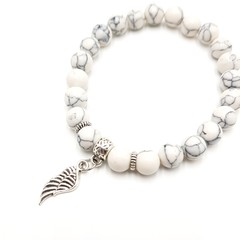Angel wing charm bracelet