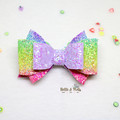 Purple Rainbow Hair Bow