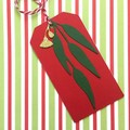 Gum Leaf Gift Tags. Christmas gift tags. Gold or silver gumnut, green leaves.