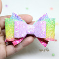 Purple Rainbow Hair Bow