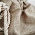 Personalised Linen Santa Sack
