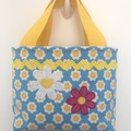 Child's handbag – tote style – daisies