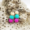 Pink Turquoise Earrings