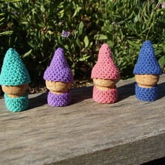 Crochet Cork Gnomes