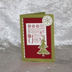 Red and Green Christmas Tree Card
